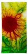 Sun And A Flower Beach Towel