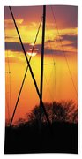 Sun And Masts Beach Towel