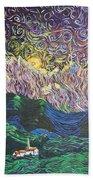 Sun And Moon Night Beach Towel