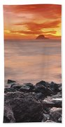 Sun Descends On Northcoast Beach Towel