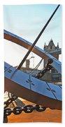 Sun Dial And Tower Bridge London Beach Towel