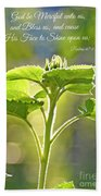 Sun Drenched Sunflower With Bible Verse Beach Towel