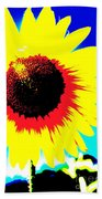 Sun Flowers Beach Towel