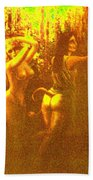 Sun Glimpse Of Wood Nymphs Beach Towel