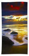 Sun Is Setting Beach Towel