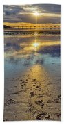 Sun Ray Sunset Saltburn Beach Towel