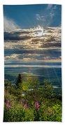 Sun Rays  Beach Towel