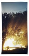 Sun Rays Beach Towel by Les Cunliffe