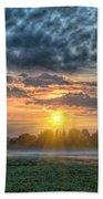 Sun Rays Vs Rain Clouds Beach Sheet