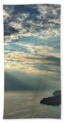 Sunbeams On Dubrovnik Beach Towel