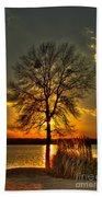 Sunblock A Sunset On Lake Oconee Beach Towel