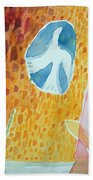 Sunburst, 1989 Wc On Paper Beach Towel