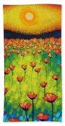 Sunburst Poppies Beach Towel
