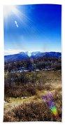 Sundance Aspen Loop-moutain Ranges V2 Beach Towel