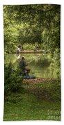 Sunday Fishing At The Lake Beach Towel