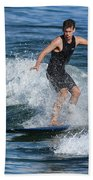 Sunday Morning Surfing Beach Towel