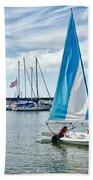 Sunday Sailing 2 Beach Towel