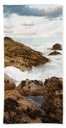 Sundown At Portlethen Beach Towel