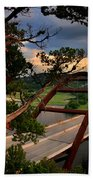 Sundown On Pennybacker 360 Beach Towel