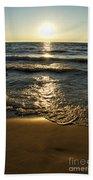 Sundown On The Beach Beach Towel