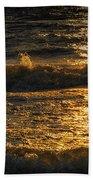 Sundown On The Waves Beach Towel