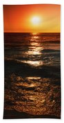 Sundown Reflections On Lake Michigan  01 Beach Towel