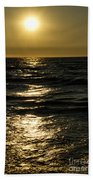 Sundown Reflections On The Waves Beach Towel