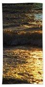 Sundown Shimmer On The Waves Beach Towel