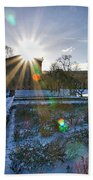 Sunflare At The Back Beach Towel