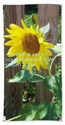 Sunflower 3 Beach Towel