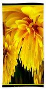 Sunflower Abstract 1 Beach Towel