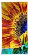 Sunflower Abstract Beach Towel