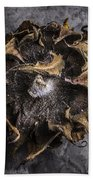 Sunflower Abstract Square Beach Towel
