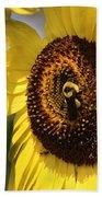 Sunflower And Bee-3922 Beach Towel