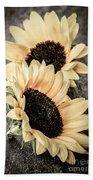 Sunflower Blossoms Beach Towel
