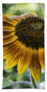 Sunflower Bokeh Beach Towel