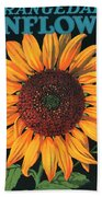 Sunflower Brand Crate Label Beach Towel