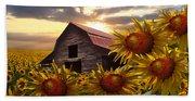 Sunflower Dance Beach Towel