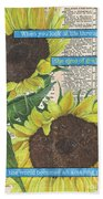 Sunflower Dictionary 2 Beach Towel