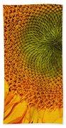 Sunflower Digital Painting Beach Towel