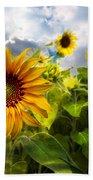 Sunflower Dream Beach Towel by Debra and Dave Vanderlaan