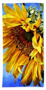 Sunflower Fantasy Beach Towel