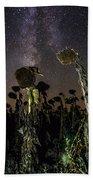 Sunflower Field At Night Beach Sheet
