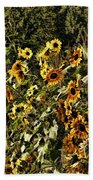 Sunflower Fields Forever Beach Towel