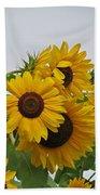 Sunflower Group Beach Towel
