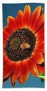 Sunflower Honey Bee Beach Towel