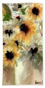 Sunflower Impressions Beach Towel
