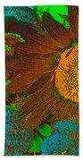 Sunflower In Brown Beach Towel