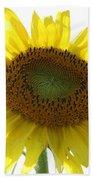 Sunflower In Light Beach Towel