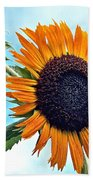 Sunflower In The Sky Beach Towel